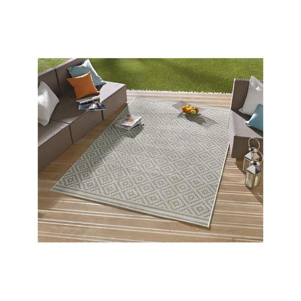 Šedý koberec vhodný i na ven Hanse Home Karo, 160x230cm