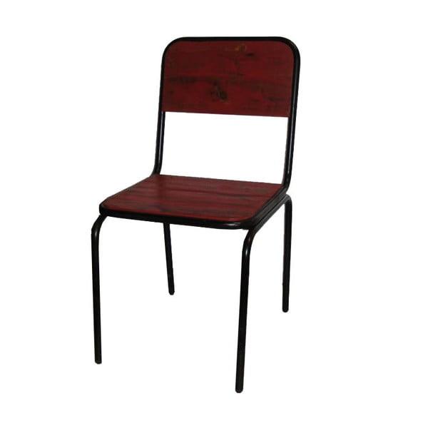 Židle Industrielle Rouge