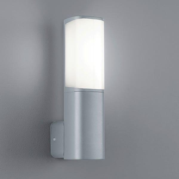 Světle šedé venkovní nástěnné svítidlo Trio Ticino, výška27 cm