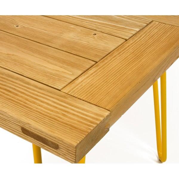 Konferenční stolek Table 100x60 cm, žluté nohy