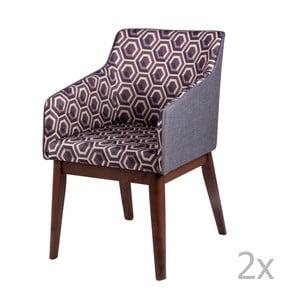 Sada 2 jídelních židlí sømcasa Clio
