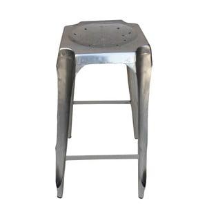 Barová kovová stolička Tabouret stířbrná