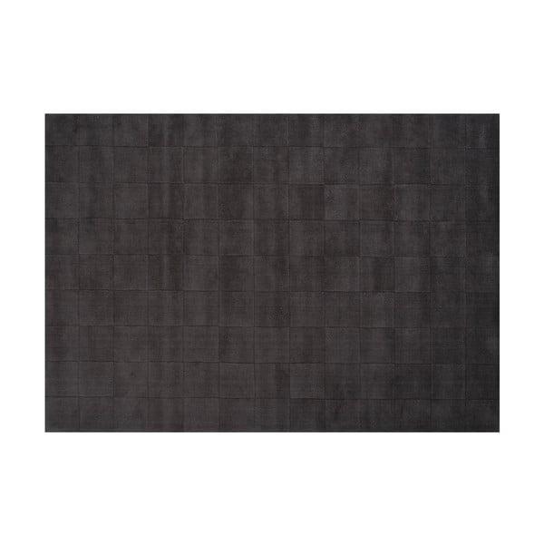 Vlněný koberec Luzern, 170x240 cm, tmavě šedý