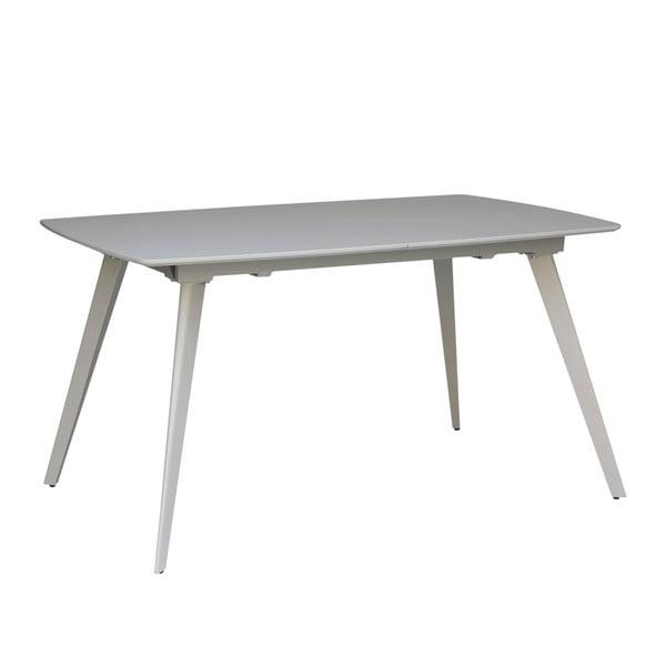 Šedý rozkládací jídelní stůl sømcasa Tessa, 140x90cm