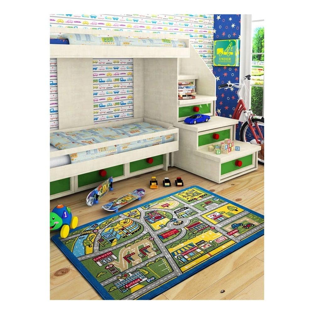 Dětský koberec Traffic, 100 x 150 cm