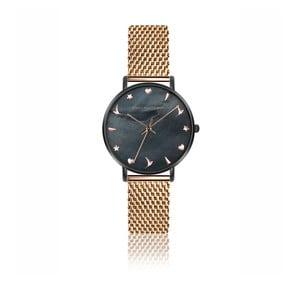 Dámské hodinky s páskem z nerezové oceli v růžovozlaté barvě Emily Westwood Kim