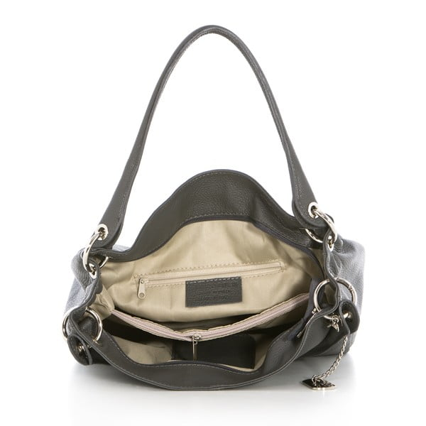 Kožená kabelka Dellio Grigio
