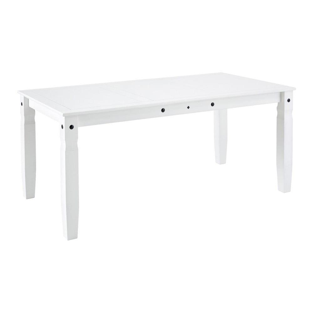 Bílý jídelní stůl z masivního borovicového dřeva Støraa Alfredo, 92 x 178 cm