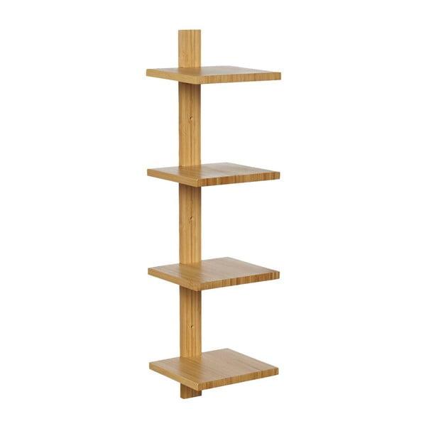 Raft de perete din lemn de bambus Furniteam Design, înălțime 64 cm