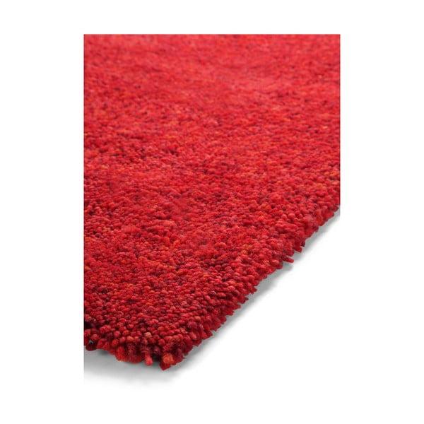 Koberec Spacedyed z novozélandské vlny, 140x200 cm, červený