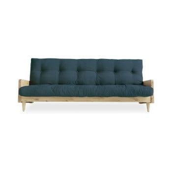 Canapea extensibilă Karup Design Indie Natural/Deep Blue, albastru închis de la Karup Design