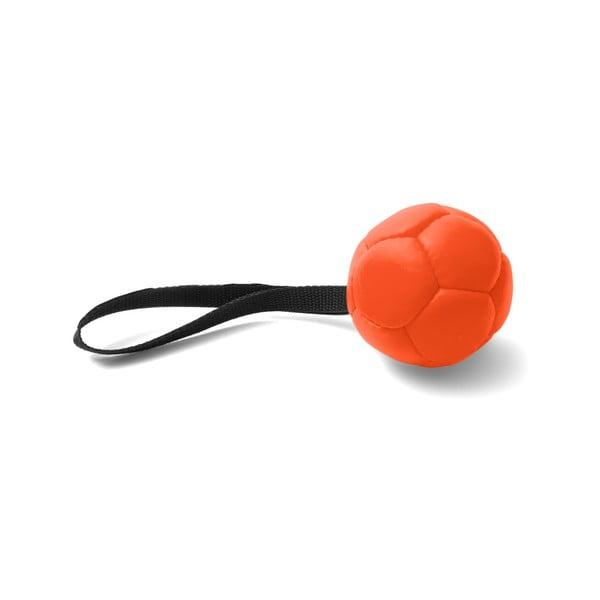 Oranžová ručně vyrobená hračka pro psy z přírodní kůže Marendog Ball, ⌀ 10 cm