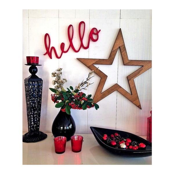 Decorațiune de perete pentru Crăciun Hello Star, 62x1,8x62 cm