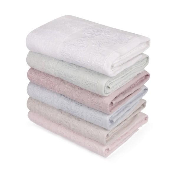 Sada šiestich uterákov v pastelových farbách Pastela, 90 × 50 cm