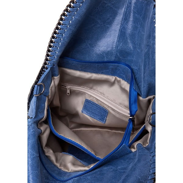 Kožená kabelka Markese 126, modrá