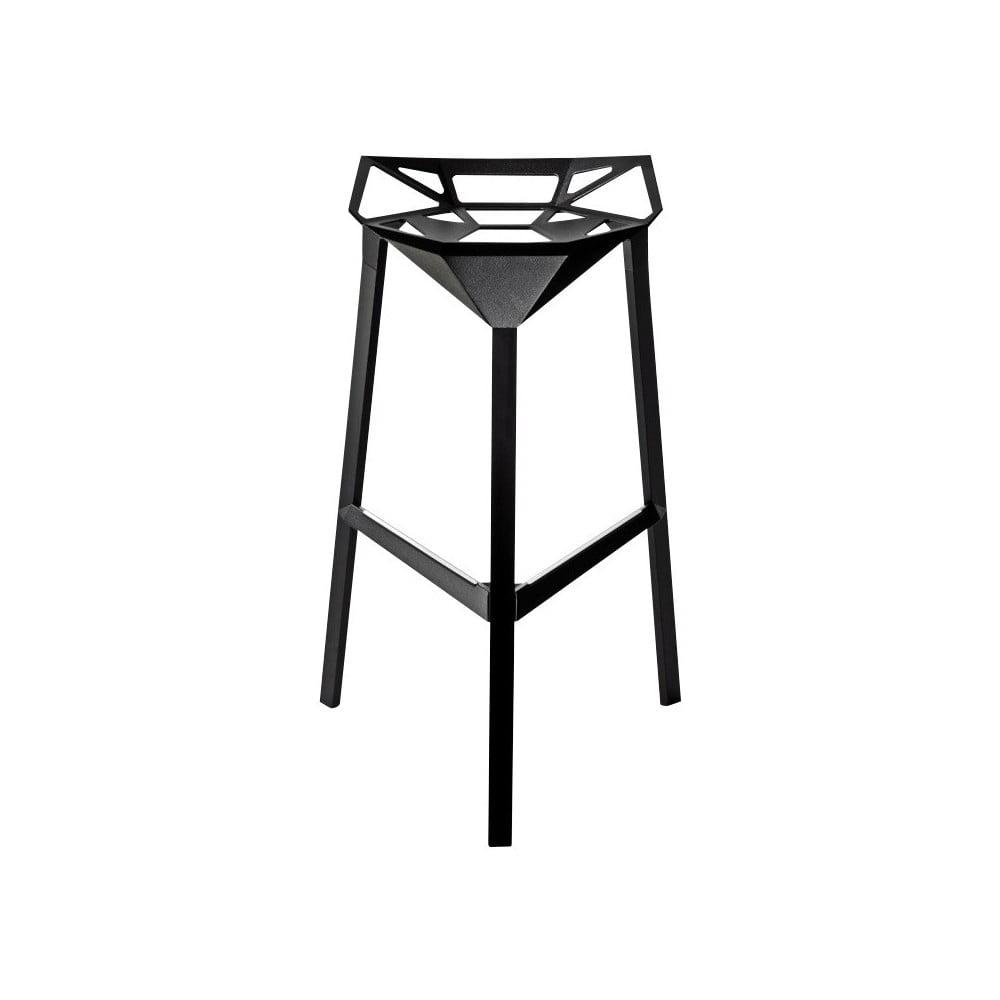 Černá barová židle Magis Officina, výška 84 cm