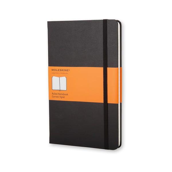 Caiet cu copertă rezistentă Moleskine, 192 pag., negru, hârtie dictando