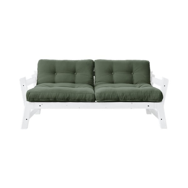 Canapea extensibilă Karup Design Step White, verde