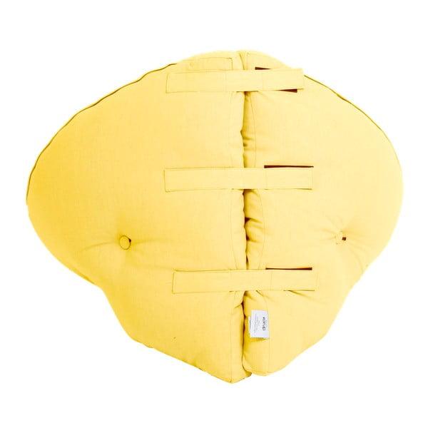 Žluté dětské rozkládací křesílko Karup Mini Nido