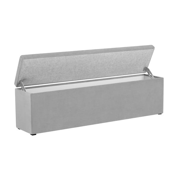 Světle šedý otoman s úložným prostorem Cosmopolitan Design LA, 200x47cm