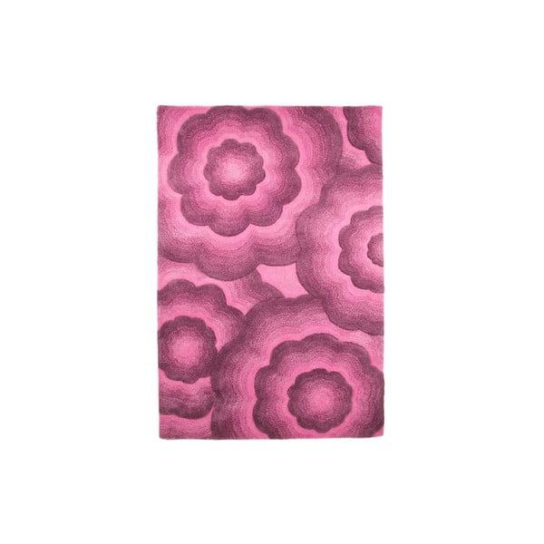 Vlněný koberec Realm 90x150 cm, fialový