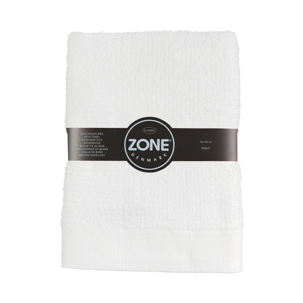 Bílá osuška Zone Classic, 70 x 140 cm