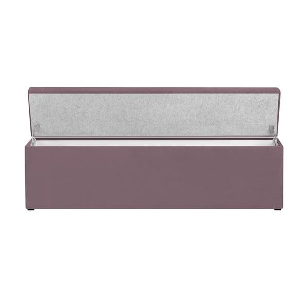 Levandulově fialový otoman s úložným prostorem Cosmopolitan Design LA, 200x47cm