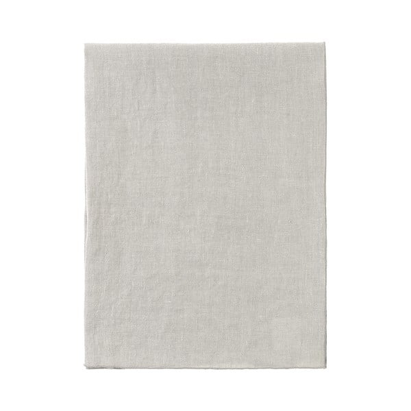 Krémovobiely ľanový behúň na stôl Blomus, 140 x 45 cm