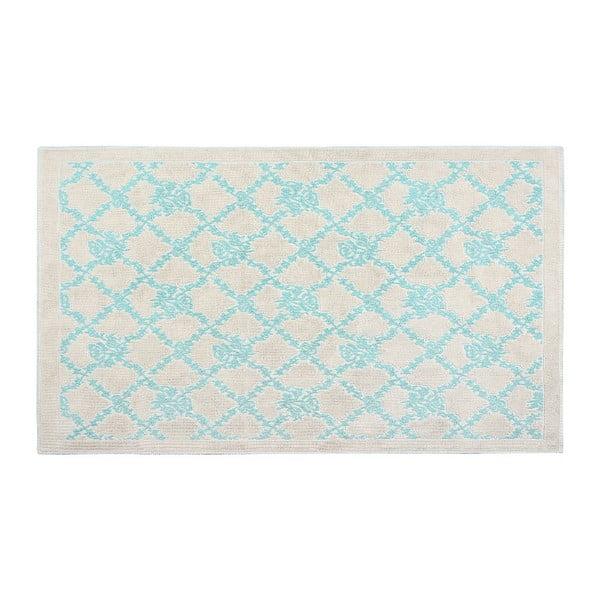 Bavlněný koberec Oni 60x90 cm, tyrkysový