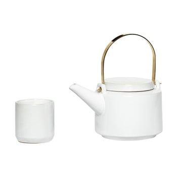 Set ceainic și 5 cești din ceramică Hübsch Ostis imagine