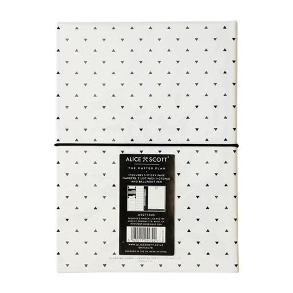 Agendă cu blocnotes și pix Alice Scott by Portico Designs, piele sintetică