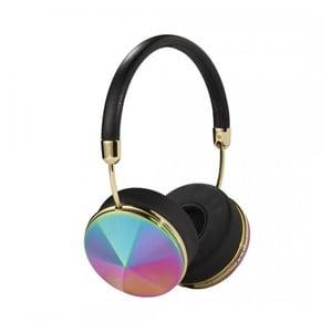 Černá sluchátka s odpojitelným kabelem a duhovými detaily Frends Taylor Wireless