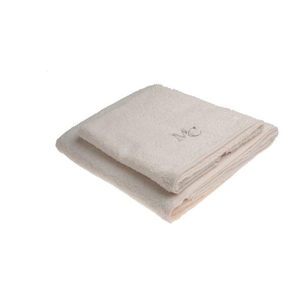 Set béžového ručníku a osušky Samantha