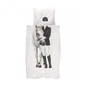 Lenjerie de pat de o persoană, din bumbac Snurk Amazone, 140 x 200 cm