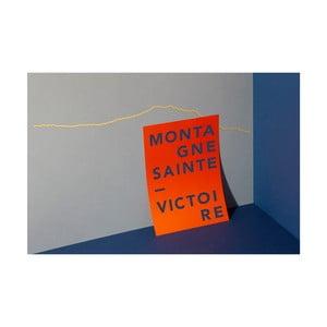 Pozlacená nástěnná dekorace se siluetou města The Line Sainte Victoire