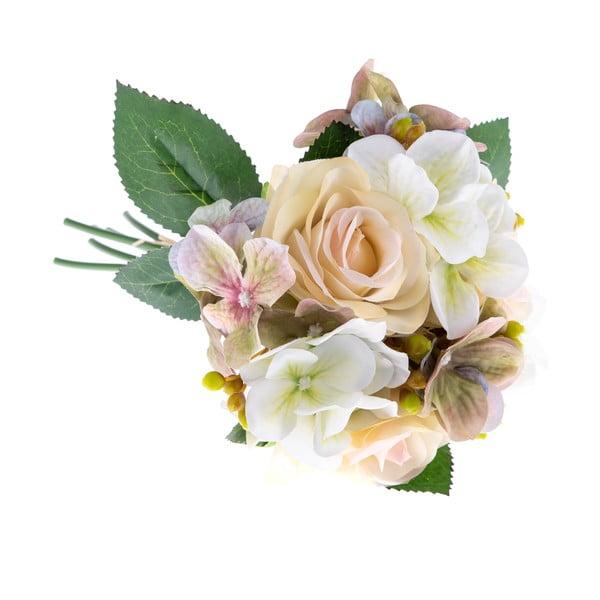 Basso dekorációs mű virágcsokor hortenziával és rózsával - Dakls