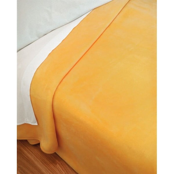 Přehoz Piel žlutý, 160x240 cm