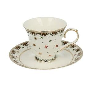 Porcelánový šálek s podšálkem Crou