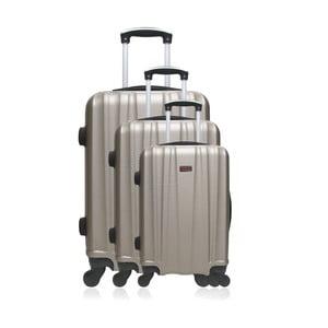 Sada 3 cestovních kufrů bronzové barvy na kolečkách Hero Poppy