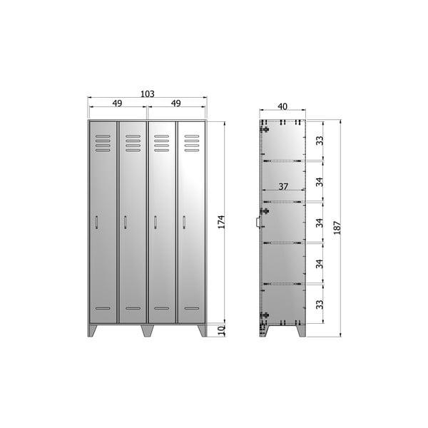 Bílá dvoukřídlá skříň z borovicového dřeva De Eekhoorn Stijn