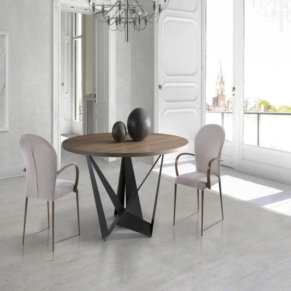 Černý jídelní stůl Ángel Cerdá Manolo, Ø 150 cm