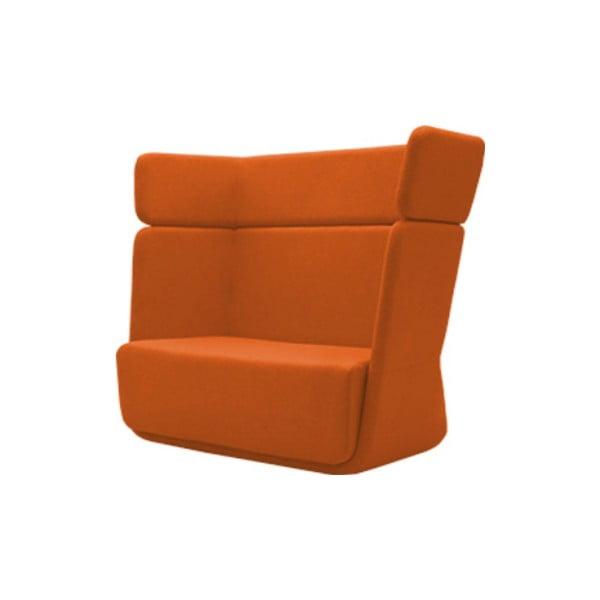 Pomarańczowy fotel Softline Basket Felt Mandarin