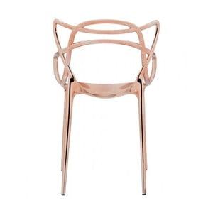 Měděná židle Kartell Masters