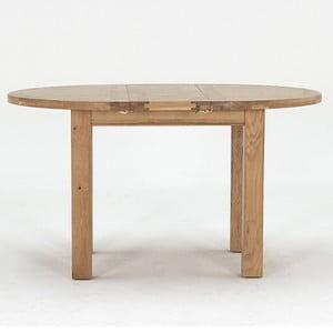 Rozkládací kruhový jídelní stůl z dubového dřeva VIDA Living Breeze, průměr 1,4m