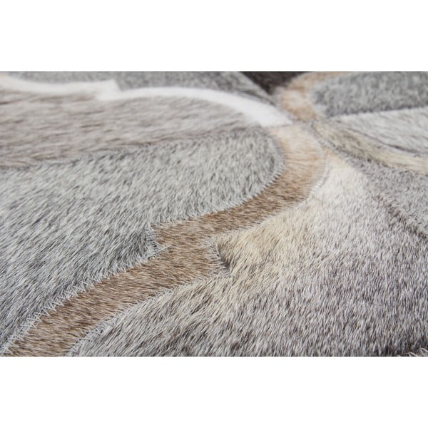 Kožený koberec Eclipse Grey, 80x150 cm