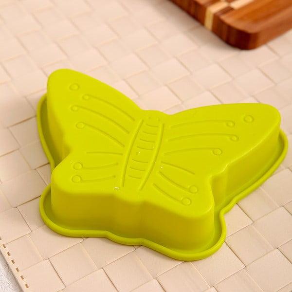 Silikonová formička Motýl, 2 ks, zelená