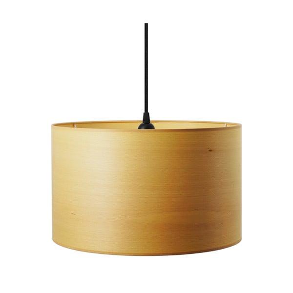 Závěsné svítidlo z přírodní dýhy v barvě běleného buku Sotto Luce TSURI B,Ø40cm