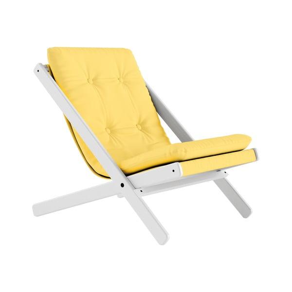 Fotoliu pliant Karup Design Boogie White/Yellow