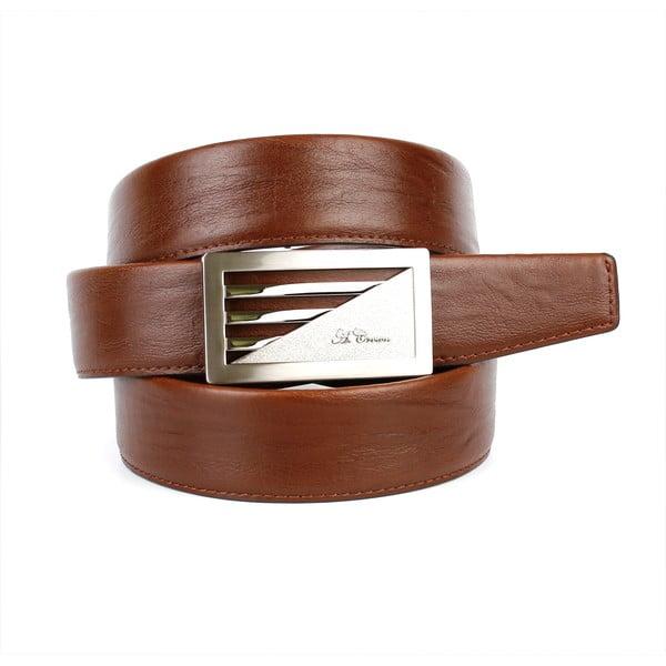 Pánský kožený pásek 11N30 Brown, 90 cm
