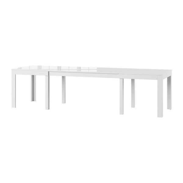 Bílý rozkládací lesklý jídelní stůl Szynaka Meble Wenus